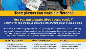 Media Release: CoralWatch
